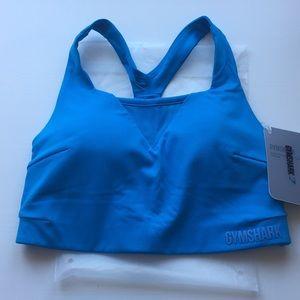 BNWT Gymshark Move Sports Bra - Sour Blue Sz S